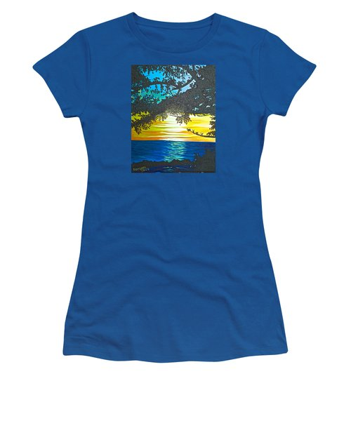 Maui Sunset Women's T-Shirt (Junior Cut) by Donna Blossom