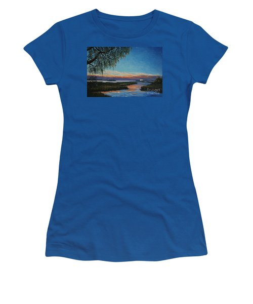 May River Sunset Women's T-Shirt (Junior Cut) by Stanton Allaben