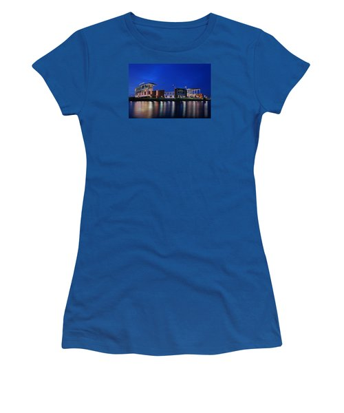 Mclane Stadium Evening Women's T-Shirt (Junior Cut) by Stephen Stookey
