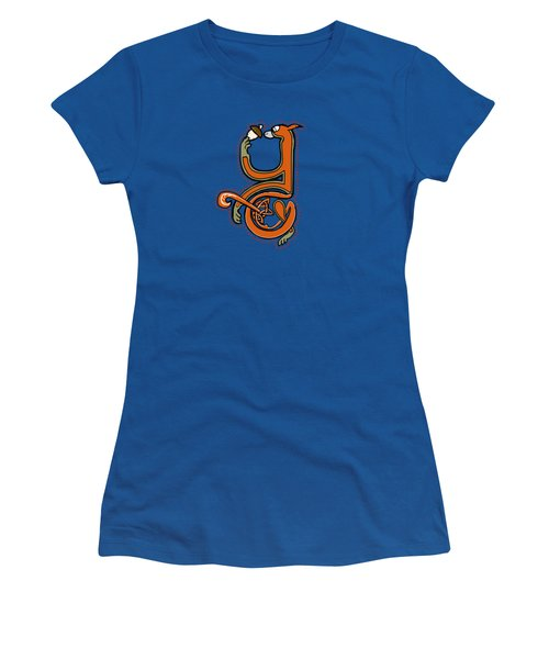 Medieval Squirrel Letter Y Women's T-Shirt (Junior Cut) by Donna Huntriss