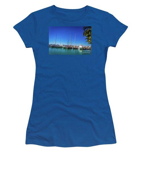 Miami Beach Marina 4509 Women's T-Shirt (Athletic Fit)
