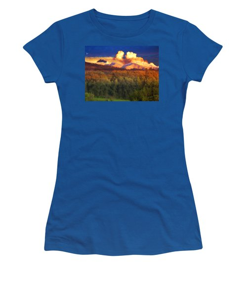 Milagro Cloud Theater Over Truchas Peaks Nm Women's T-Shirt (Athletic Fit)
