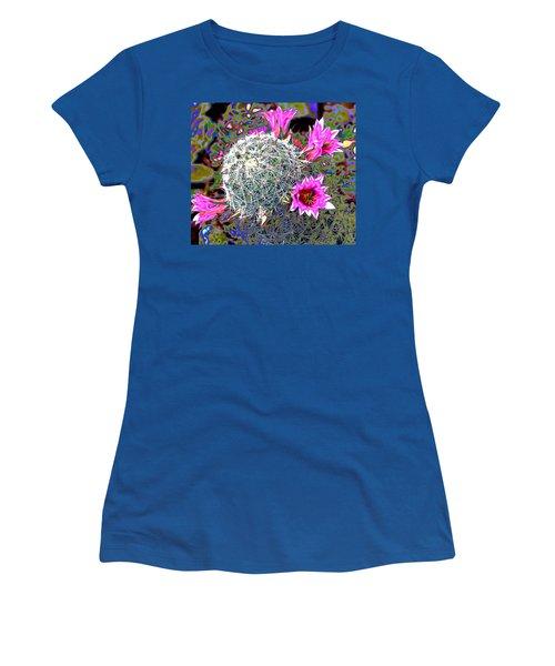 Mini Cactus Women's T-Shirt (Junior Cut) by M Diane Bonaparte
