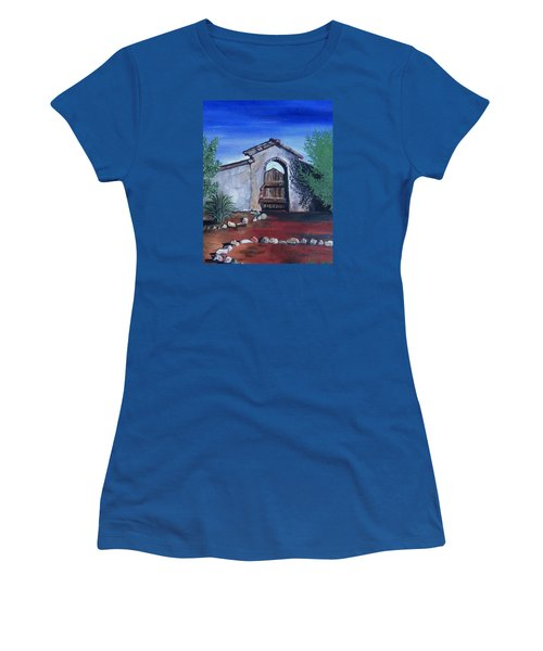 Rustic Charm Women's T-Shirt (Junior Cut) by Mary Ellen Frazee