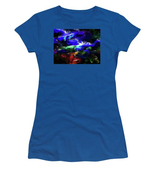 Moment In Blue Lazy River Women's T-Shirt (Junior Cut) by Cedric Hampton
