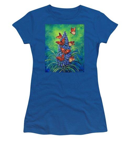 Monarch Waystation Women's T-Shirt (Junior Cut) by Gail Butler