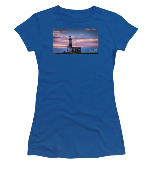 Montauk Lighthousepastel  Sunrise Women's T-Shirt