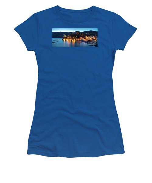 Women's T-Shirt (Junior Cut) featuring the photograph Monterosso Al Mare At Twilight by Brian Jannsen