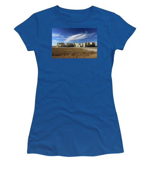 Monument Rock Afternoon  Women's T-Shirt (Junior Cut) by Christopher McKenzie