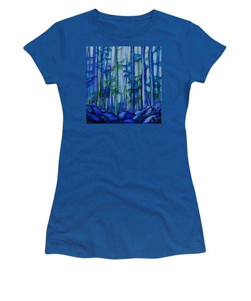 Moonlit Forest Women's T-Shirt (Junior Cut) by Joanne Smoley