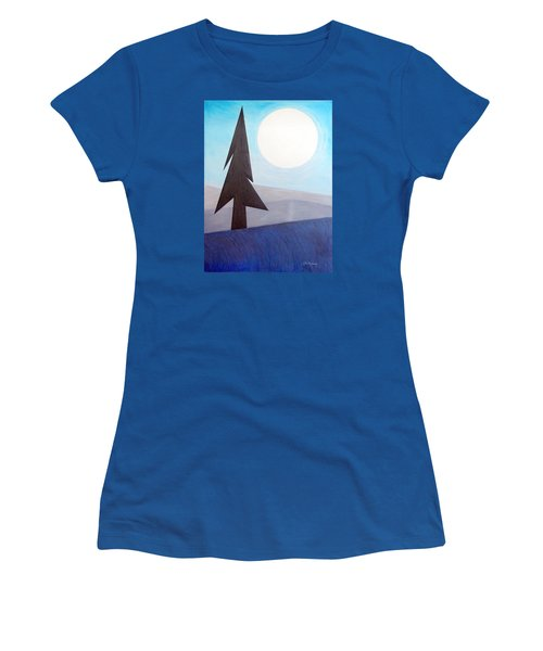 Women's T-Shirt (Junior Cut) featuring the painting Moon Rings by J R Seymour