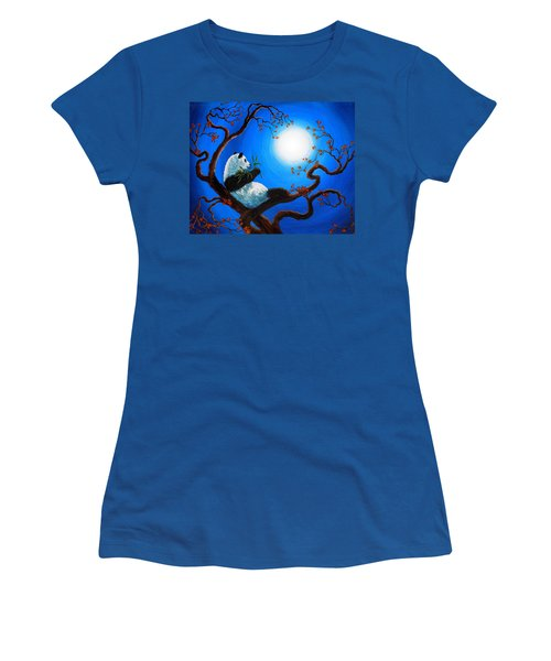 Moonlit Snack Women's T-Shirt (Junior Cut) by Laura Iverson