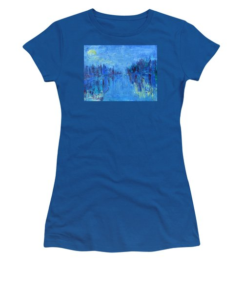 Women's T-Shirt (Junior Cut) featuring the painting Morning On The Point by Betty Pieper