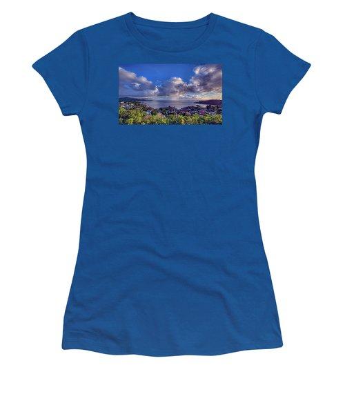 Morning Rain In Kaneohe Bay Women's T-Shirt