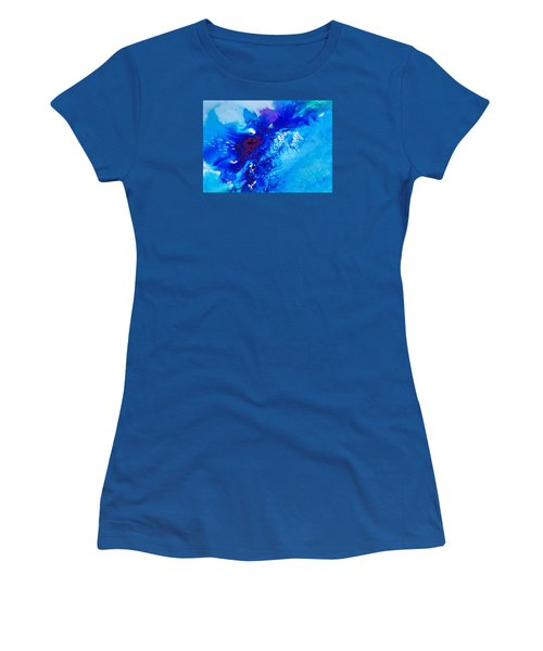 Women's T-Shirt (Junior Cut) featuring the painting Motu Arutua by Ed  Heaton