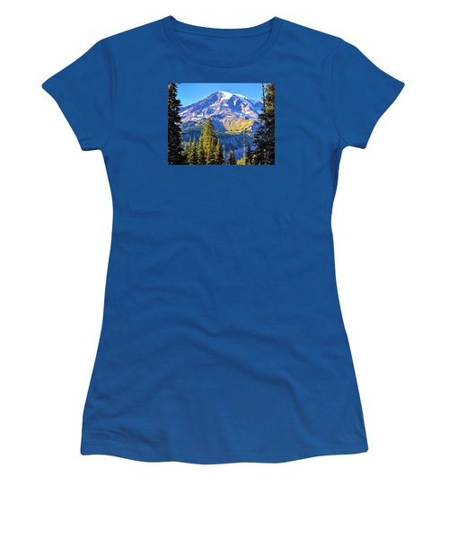 Mountain Meets Sky Women's T-Shirt (Junior Cut) by Anthony Baatz