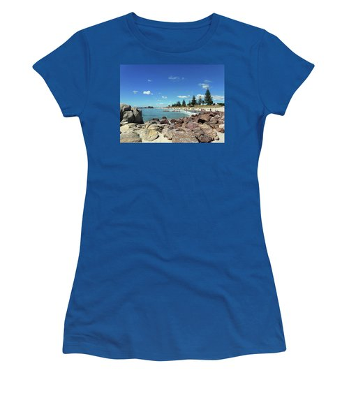 Mt Maunganui Beach 3 - Tauranga New Zealand Women's T-Shirt (Junior Cut) by Selena Boron
