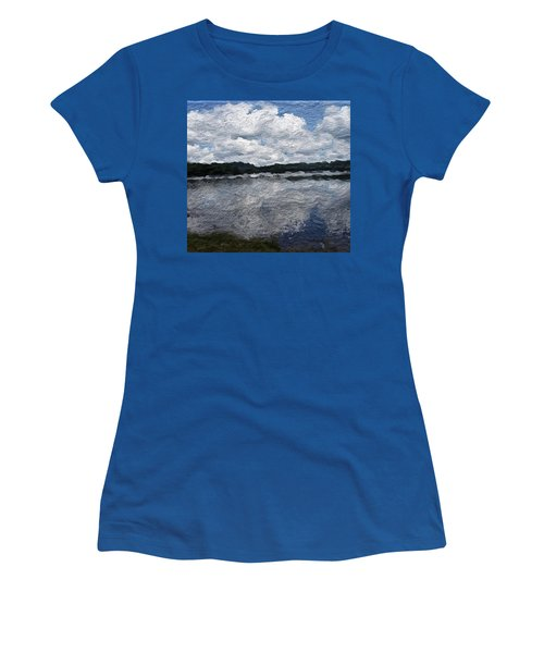 Women's T-Shirt featuring the painting Mt. Pocono Landscape by Joan Reese
