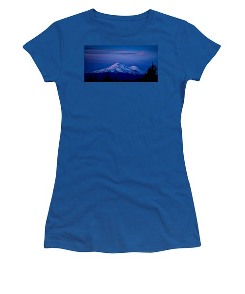 Mt Shasta At Sunrise Women's T-Shirt (Junior Cut) by Albert Seger