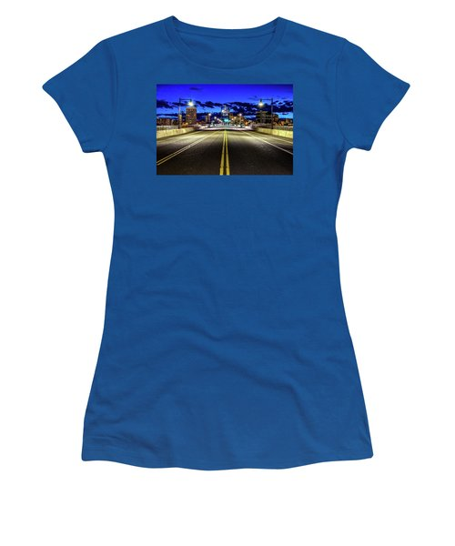 Murray Morgam Bridge During Blue Hour In Hdr Women's T-Shirt