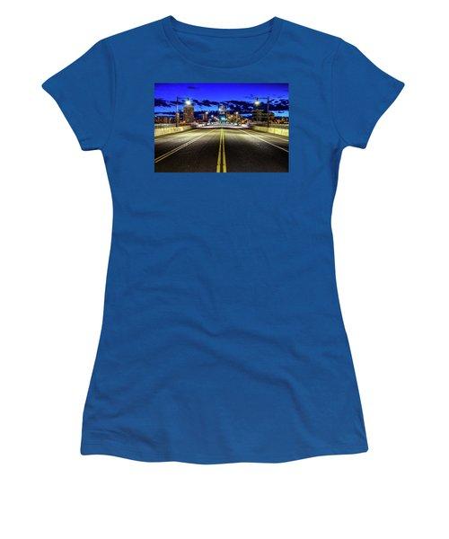 Murray Morgam Bridge During Blue Hour In Hdr Women's T-Shirt