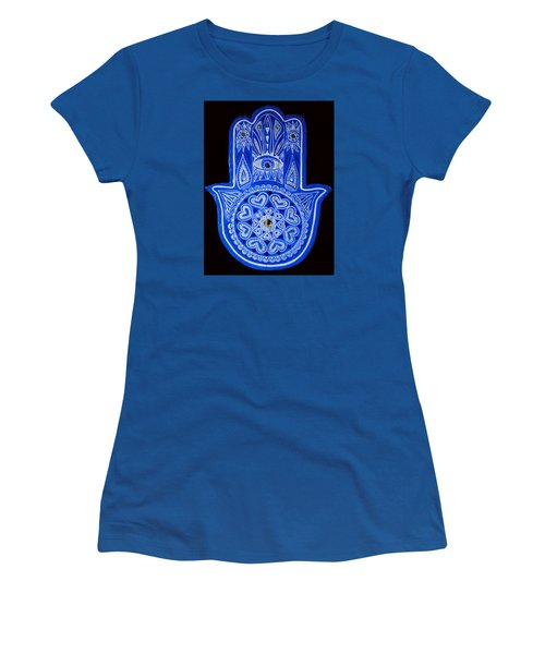My Blue Hamsa Women's T-Shirt (Athletic Fit)