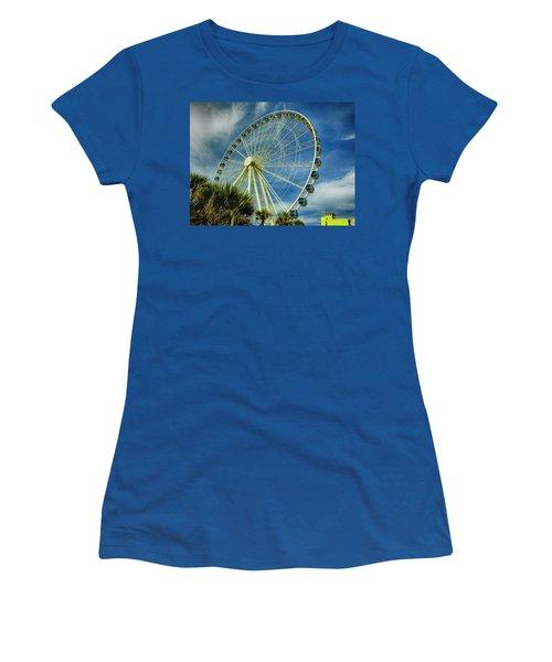 Myrtle Beach Skywheel Women's T-Shirt (Junior Cut) by Bill Barber