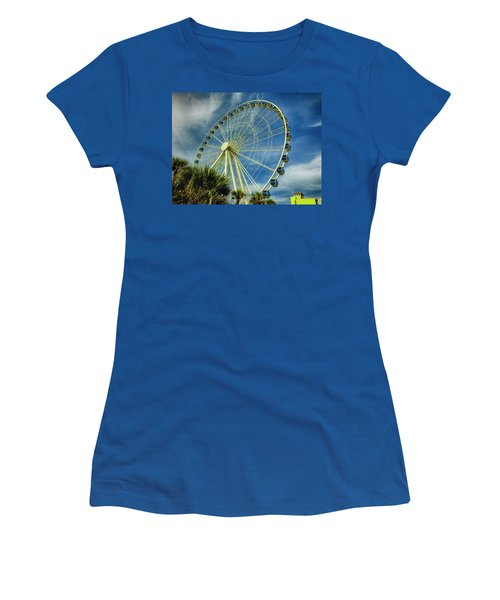 Myrtle Beach Skywheel Women's T-Shirt (Junior Cut)
