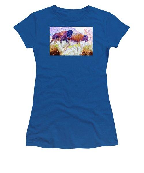 Neon Bison Pair Women's T-Shirt