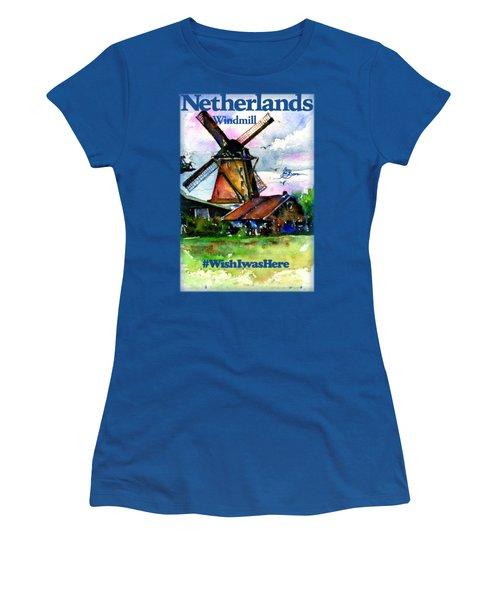 Netherlands Windmill Shirt Women's T-Shirt (Athletic Fit)