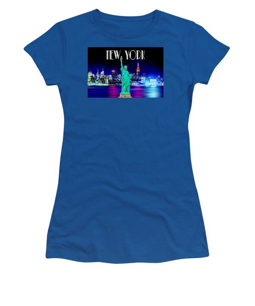 New York Shines Women's T-Shirt (Junior Cut) by Az Jackson