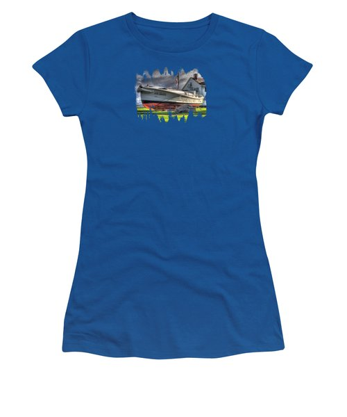 Newport Coast Guard Station Women's T-Shirt (Athletic Fit)