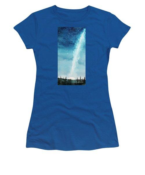 Night Sky Women's T-Shirt (Junior Cut) by Rebecca Davis