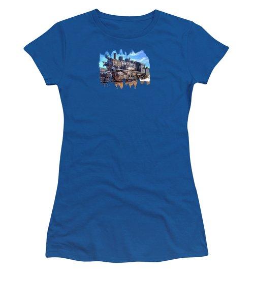 No. 25 Steam Locomotive Women's T-Shirt (Junior Cut) by Thom Zehrfeld