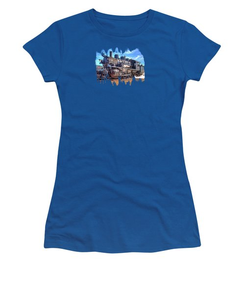 No. 25 Steam Locomotive Women's T-Shirt (Athletic Fit)