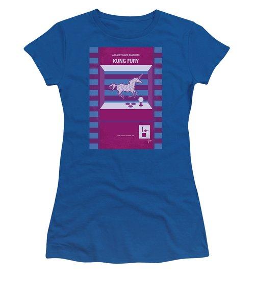 Women's T-Shirt (Junior Cut) featuring the digital art No770 My Kung Fury Minimal Movie Poster by Chungkong Art