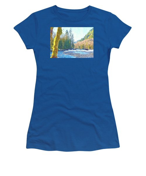North Fork Of The Skykomish River Women's T-Shirt (Junior Cut) by Tobeimean Peter