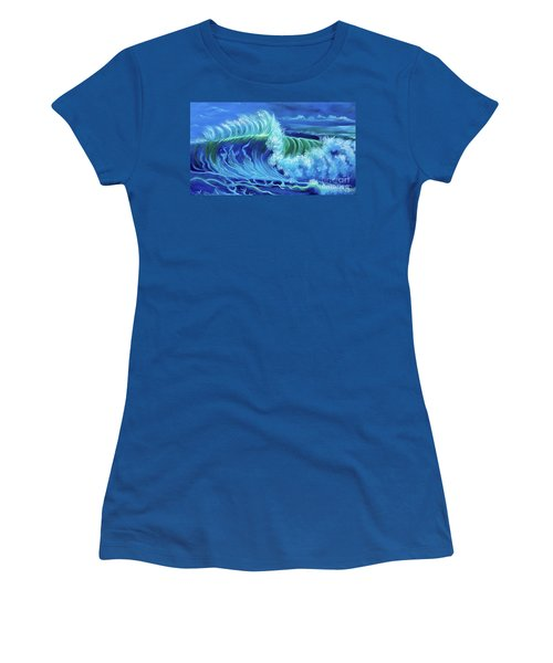 North Shore Wave Hawaii Jenny Lee Discount Women's T-Shirt (Athletic Fit)