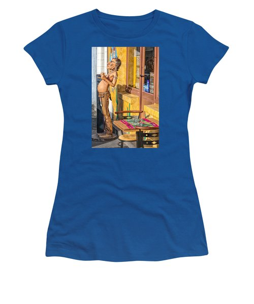 Women's T-Shirt (Athletic Fit) featuring the photograph Not The Typical Franch Restaurant by Elf Evans