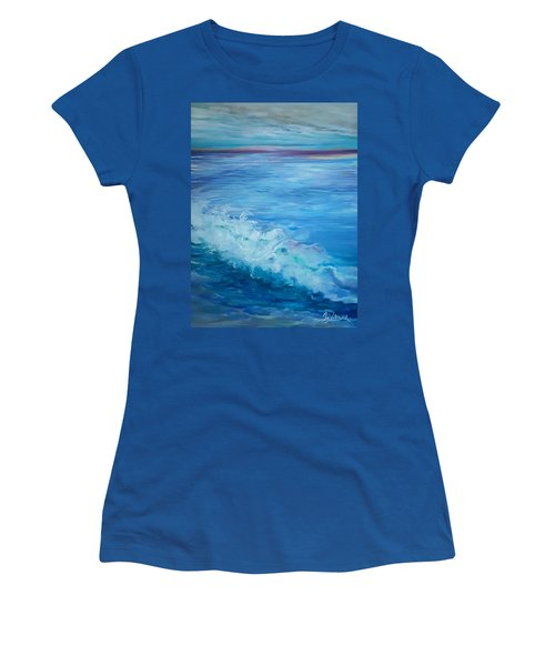 Ocean Blue Women's T-Shirt (Athletic Fit)