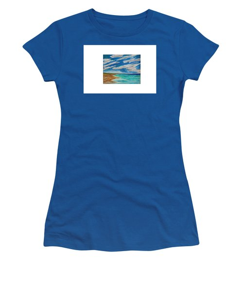 Ocean Clouds Women's T-Shirt (Athletic Fit)