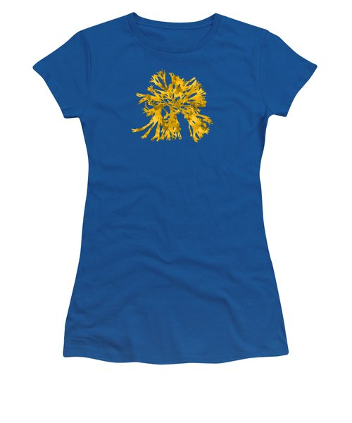 Women's T-Shirt (Junior Cut) featuring the mixed media Ocean Seaweed Plant Art Rhodomenia Sobolifera Square by Christina Rollo