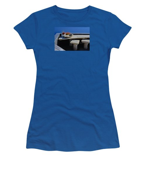 Oia Still Life On The Greek Island Of Thira Women's T-Shirt (Athletic Fit)
