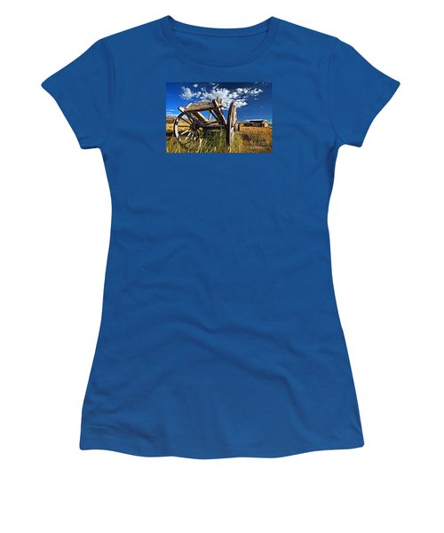 Old Abandoned Wagon, Bodie Ghost Town, California Women's T-Shirt (Junior Cut) by Sam Antonio Photography
