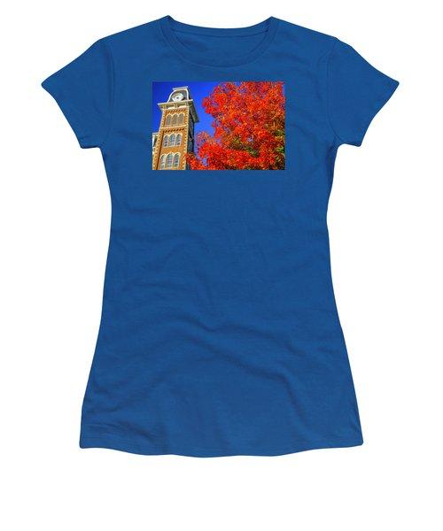 Old Main Maple Women's T-Shirt (Junior Cut) by Damon Shaw