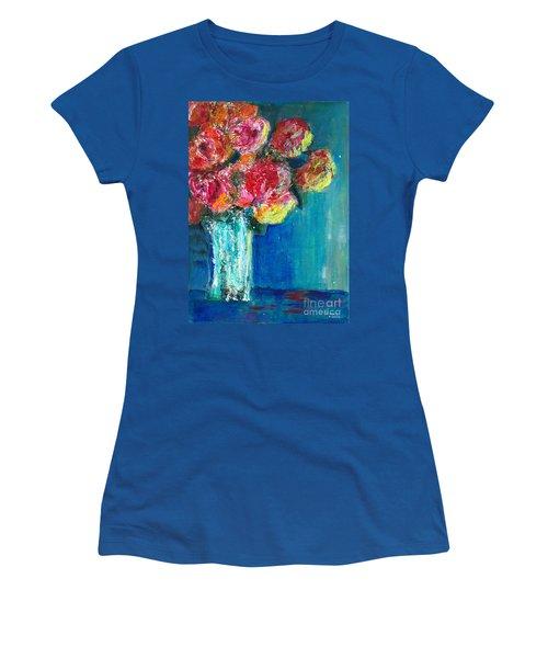 Old Roses Women's T-Shirt (Junior Cut) by Veronica Rickard