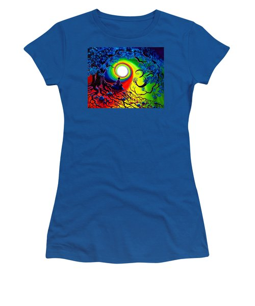 Om Tree Of Life Meditation Women's T-Shirt (Athletic Fit)