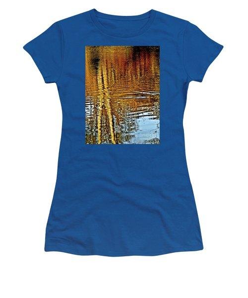 On Golden Pond Women's T-Shirt (Junior Cut) by Carol F Austin