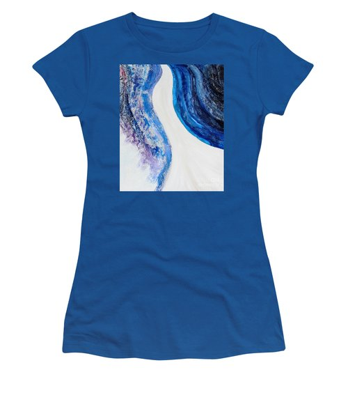 On The Road In Blue Women's T-Shirt