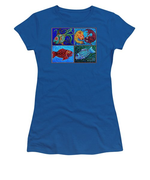 One Fish Two Fish Women's T-Shirt (Junior Cut) by Sarah Loft